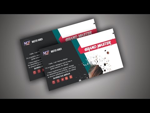How to business card design in photoshop  tutorial | Learn Photoshop thumbnail