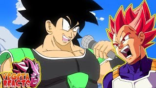 Vegeta Reacts To Broly vs Goku and Vegeta RAP BATTLE!