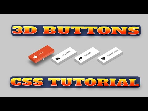 How To Create 3D Buttons Using HTML & CSS | To Make 3D Buttons Using HTML and CSS Tutorial thumbnail