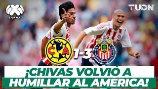 ¡Super Chivas! El rebaño goleó al Ame y se adueñó del Azteca | América vs Chivas - AP2012 | TUDN