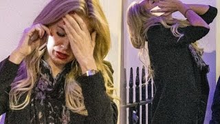 Aisleyne Horgan-Wallace breaks down in tears and falls to the ground - upset over David McIntosh?