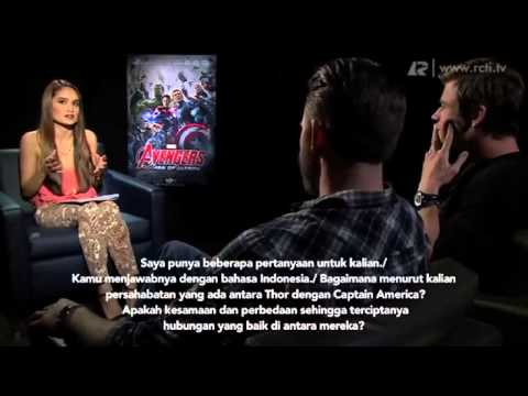"Full interview Cinta Laura with all stars ""AVENGERS AGE OF ULTRON"""