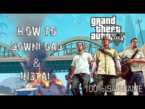 Download & Instal GTA 5 + 100% SAVEGAME Mudah
