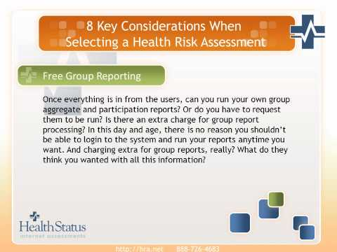 8 Keys in Selecting a Health Risk Assessment