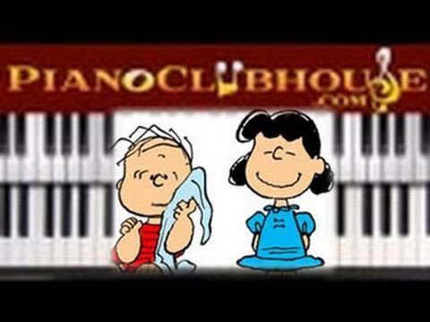 """♫ How to play """"LINUS AND LUCY"""" (Vince Guaraldi) - piano tutorial ♫"""