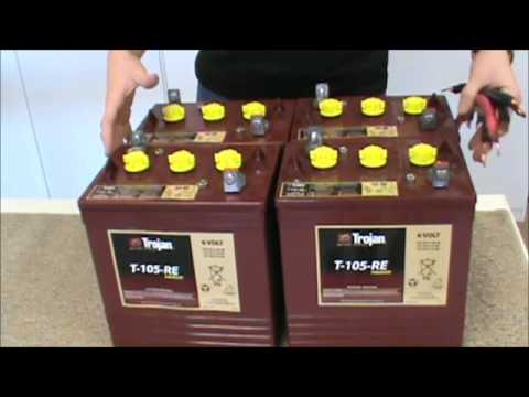 3 Battery Wiring Diagram In Rv Battery Solar Battery Parallel Amp Series Connections Youtube