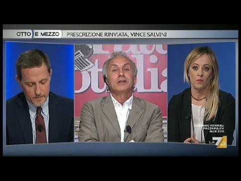 Un Grande Marco Travaglio vs Giannini e Meloni a Otto e Mezzo del 08/11/18