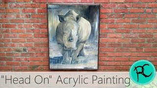 Painting a rhino and an easy way to frame art