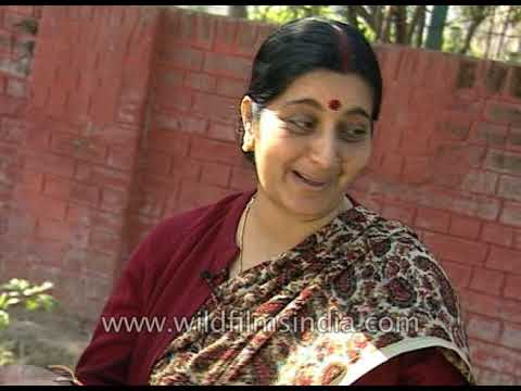 Sushma Swaraj: Youngest cabinet minister in Haryana at 25. First woman CM of Delhi. Seven time MP
