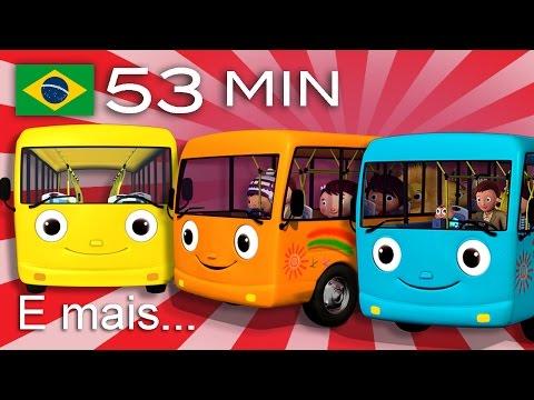 As Rodas do Ônibus | E muitas mais Canções de Ninar | Compilação com 53 minutos da LittleBabyBum!
