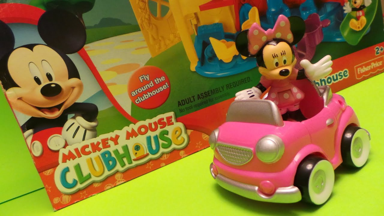 mickey mouse clubhouse fisher price minnie mouse and her car from disney unboxing