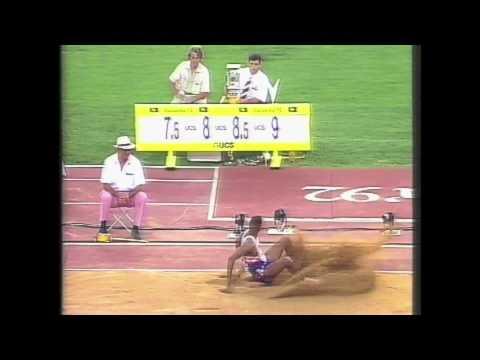 4003 Olympic Track & Field 1992 Long Jump Men Joe Greene