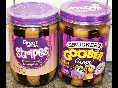 Smucker's Goober vs Great Value Stripes Peanut Butter & Grape Jelly Blind Taste Test