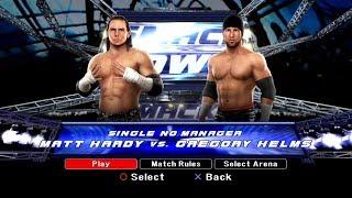 WWE SmackDown VS Raw 2008 PS3 Gameplay - Matt Hardy VS Gregory Helms [FullHD]