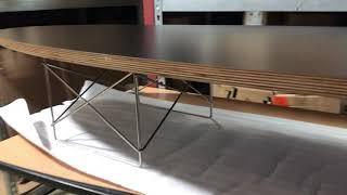 임즈 일립티컬 테이블 서핑보드테이블 성형합판 소파테이블…