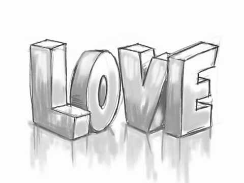 How to Draw 3D LOVE Graffiti Letters