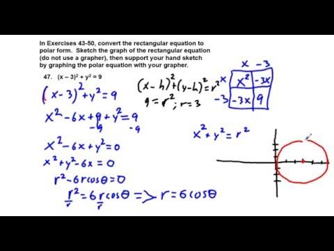 Precalculus Chapter 6.4 Exercises 43-52 Convert Rectangular Form ...