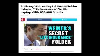 anthony weiner 650 000 emails in folder life insurance
