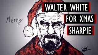 Walter White for Xmas - Sharpie #6 [Kocham Rysować]