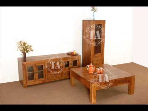 wooden living room set.  Wooden Living Room Furniture Indian furniture handicraft YouTube