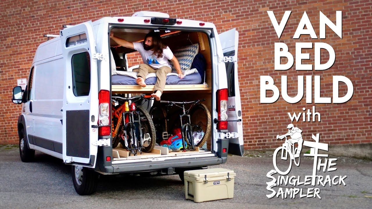 Diy Camper Van Conversion Bed Build Converts To A Couch