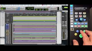 PreSonus–Transport Controls with FaderPort 16 and Pro Tools