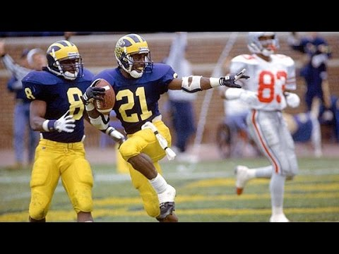 Greatest punt return ever! Desmond Howard Heisman Pose