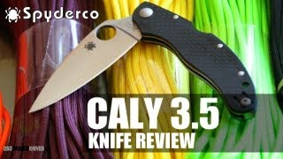 Spyderco Caly 3.5 C144CFPE Folding Knife Review | OsoGrandeKnives com