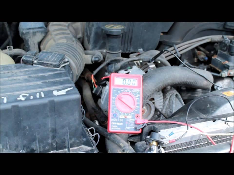 ford mercury alternator broken wire problem alternator wiring test