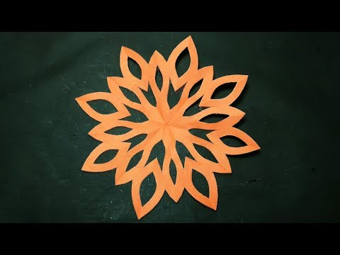 Paper Design Simple-How To Make Easy Paper Cut Designs For Decoration Instruction Step By Step