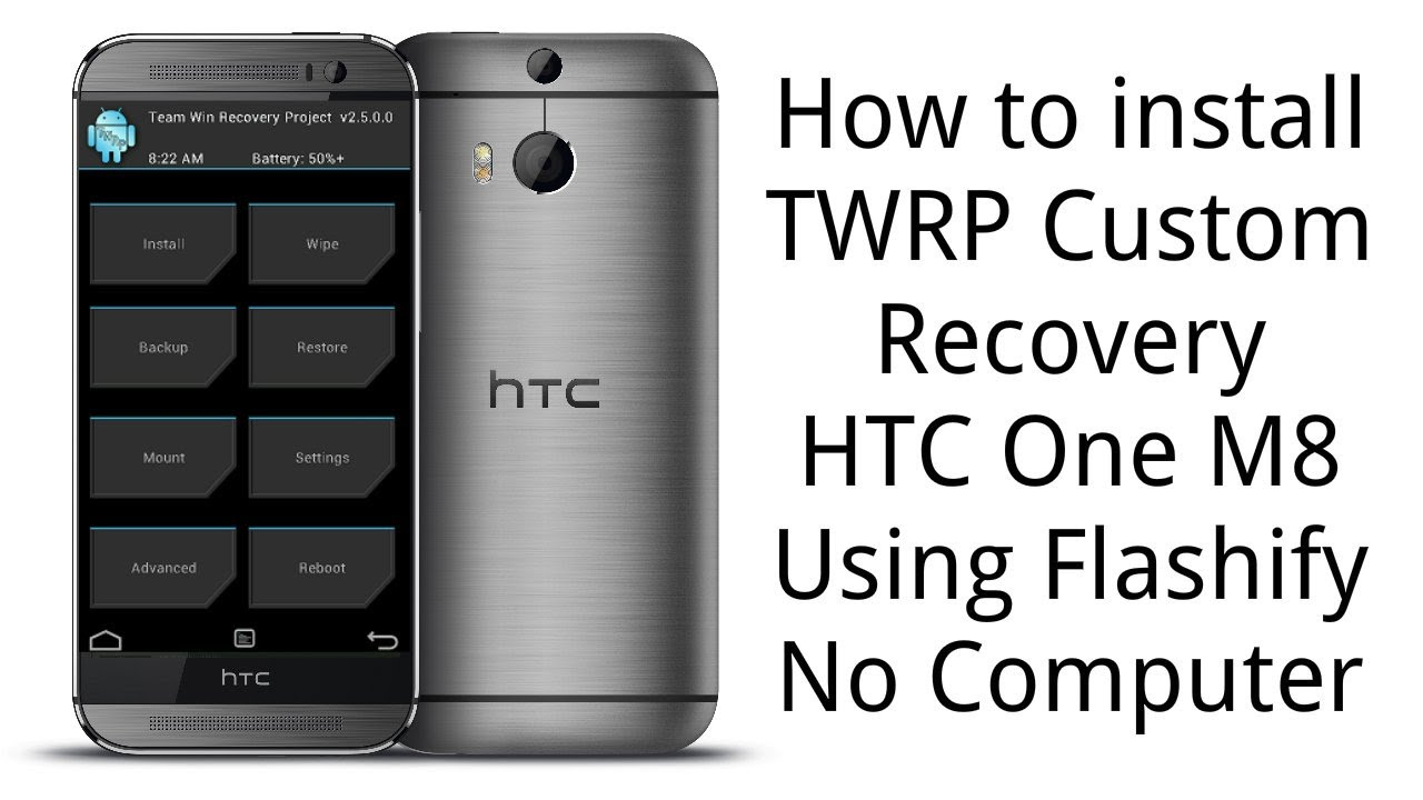 [RECOVERY][m8wlv] TWRP 2 7 0 0 touch recovery - Install using Flashify app  - No Computer Required