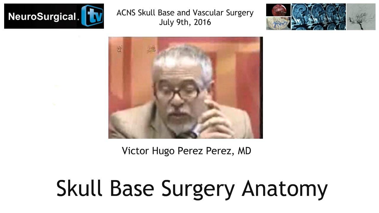 Victor Hugo Perez Perez, MD: Skull Base Surgery Anatomy - YouTube