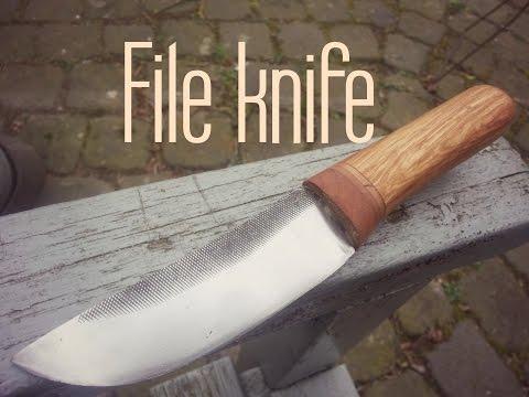 Forging a file knife