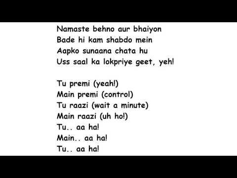 TAMMA TAMMA Again Lyrics Full Song