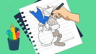Como desenhar um coelho da pascoa passo a passo