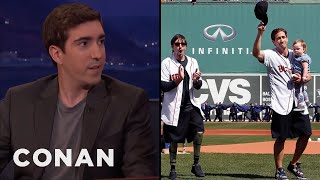 Jeff Bauman Threw Out The First Pitch At Fenway Park  - CONAN on TBS