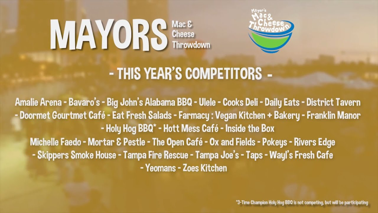 mayor's mac and cheese throwndown 2017 competitors - youtube