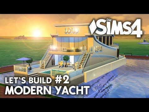 Yacht bauen in Die Sims 4 | Let's Build #2 Hafen Grundstück mit modernem Boot