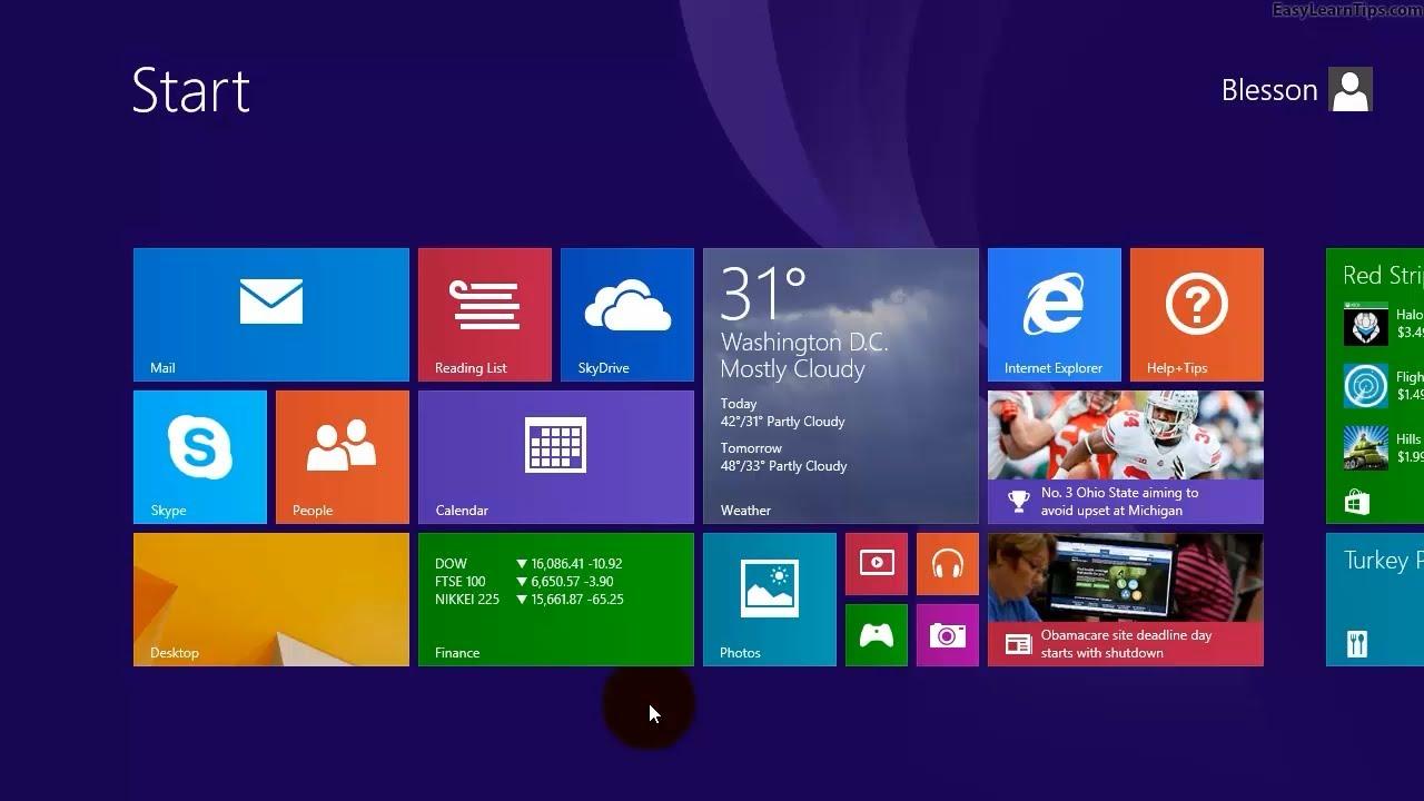 Windows 81 Set The Desktop Wallpaper As The Start Screen Background