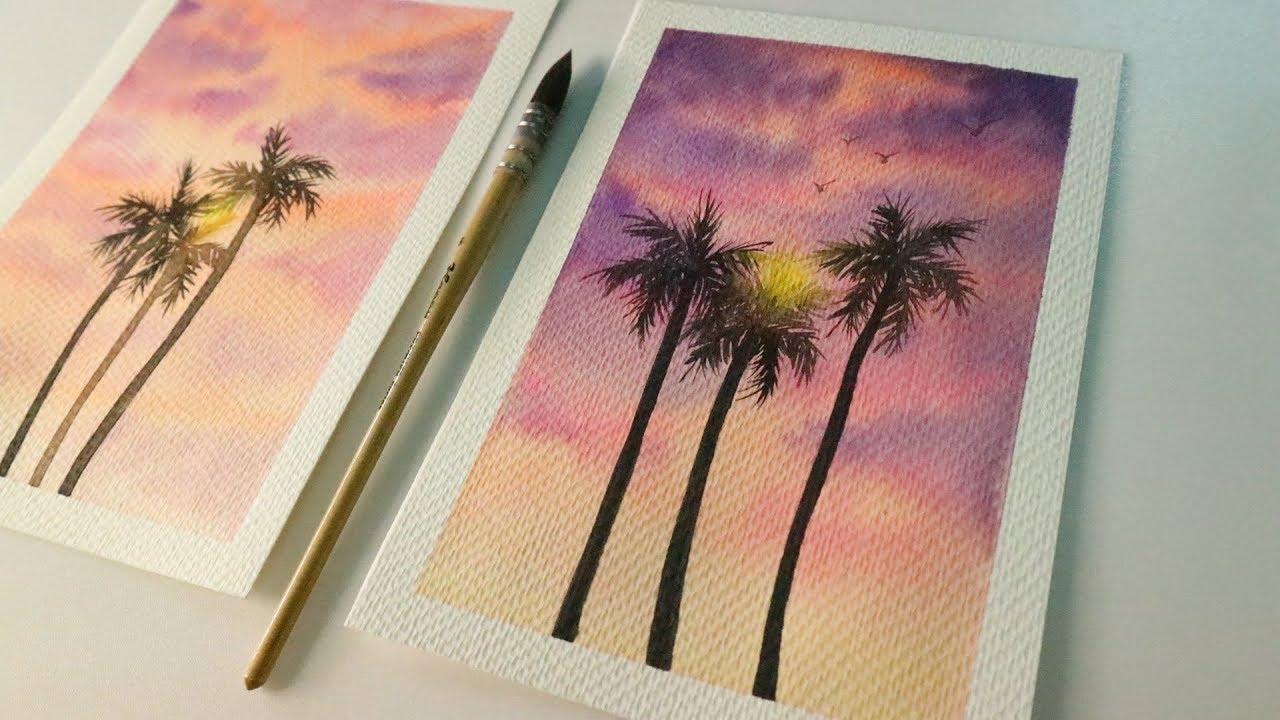 ART#06| Vẽ tranh phong cảnh bằng màu nước Thiên Long | Watercolor Tutorial| Landscape