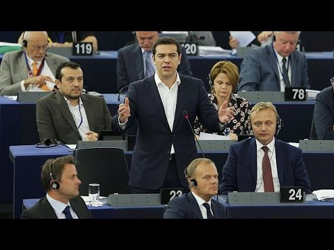 Greek PM Alexis Tsipras faces MEPs - no comment