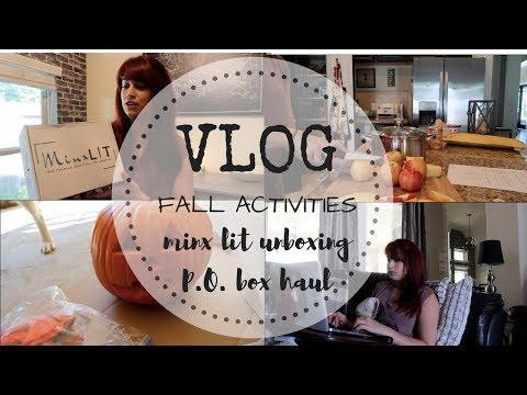 VLOG | Fall Festivities + Oct. Minx Lit Unboxing + P.O. Box Haul