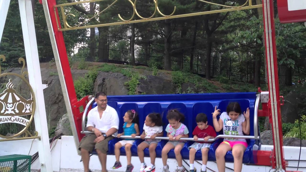 Big Swing At Victorian Gardens Central Park Nyc Youtube