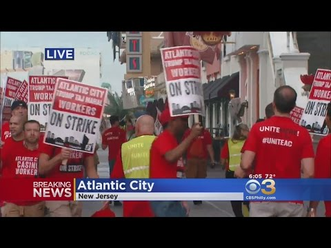 Union Goes On Strike Against Trump Taj Mahal Casino