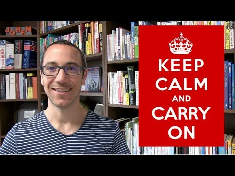 Gardez votre calme et continuez (keep calm and carry on)