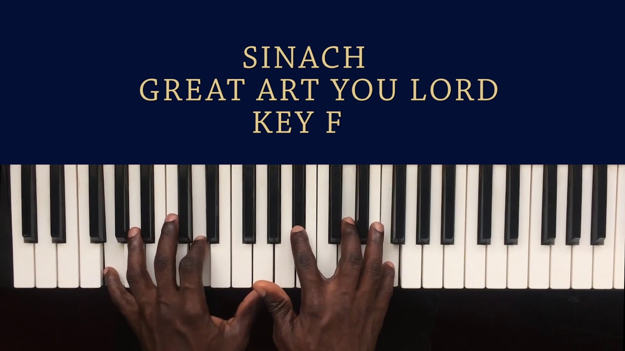 Sinach Great Art You Lord| Piano Chords Tutorial For Beginners (Made Easy)