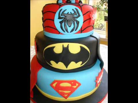 Superheroes 30th Bday Fondant Cake  YouTube
