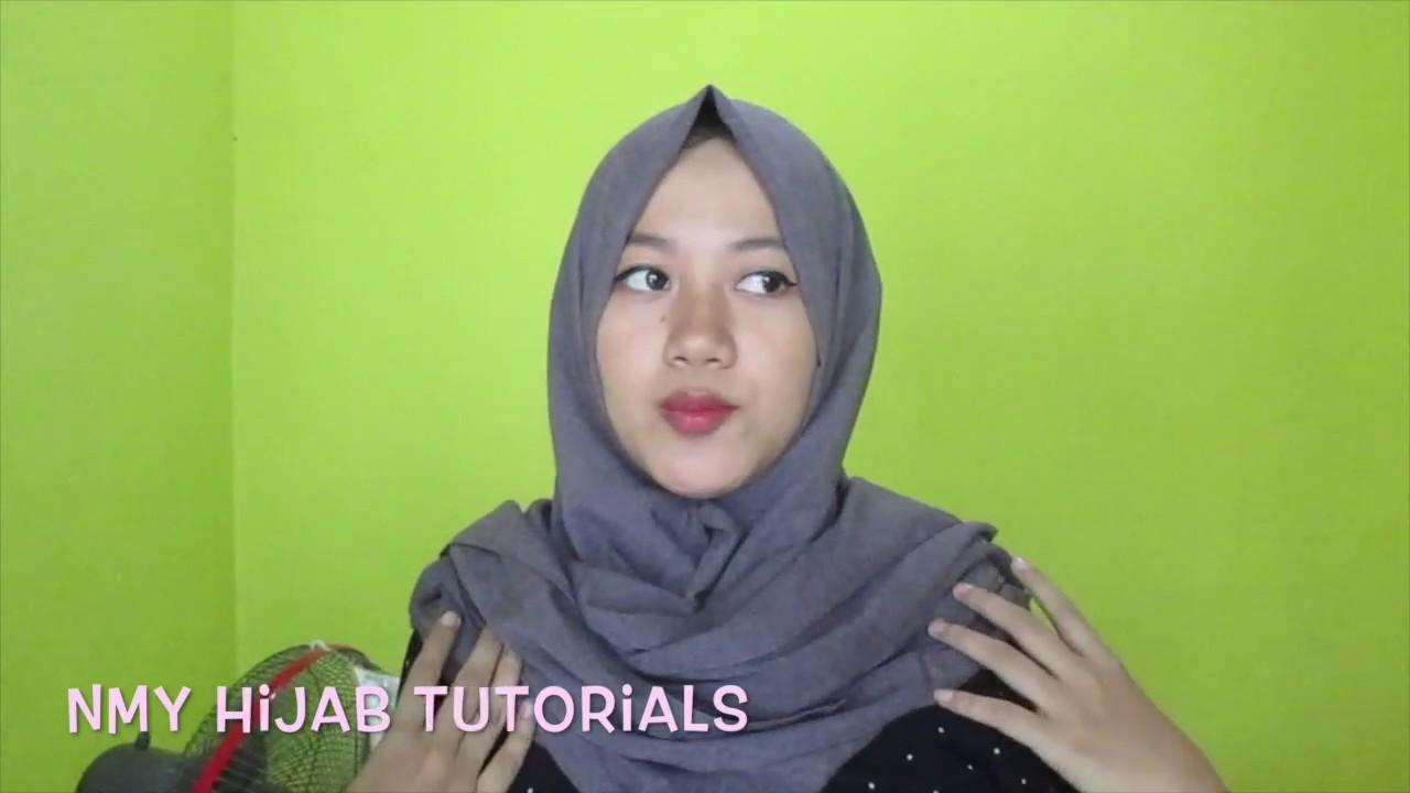Tutorial Hijab Tanpa Ninja Tips Pashmina Menutup Dada Dan Tutorial