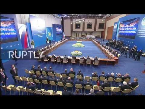 LIVE: Putin takes part in Russia-Kazakhstan forum: plenary session