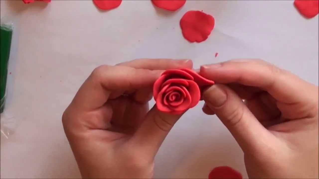 Как сделать из глины розочку